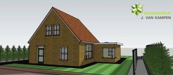 3D-tekening woning- Bouwbedrijf van Kampen