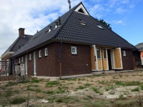 Nieuwbouw woning met inwoning te Kallenkote