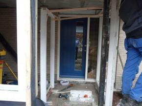 Verbouw: voordeur wordt verplaatst